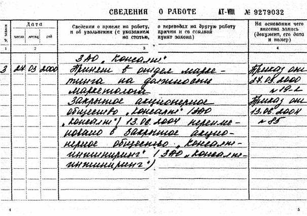 Внесение записи о переименовании организации